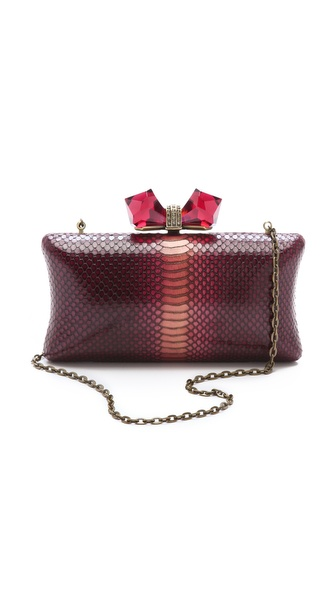 Overture Judith Leiber Ombre Concave Side Rectangle Clutch
