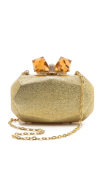 Overture Judith Leiber Avery Large Faceted Resin Clutch