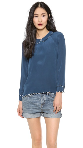 Paul & Joe Sister Schubert Top - Denim at Shopbop / East Dane