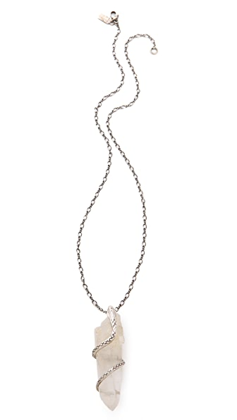 Pamela Love Quartz Crystal Python Necklace
