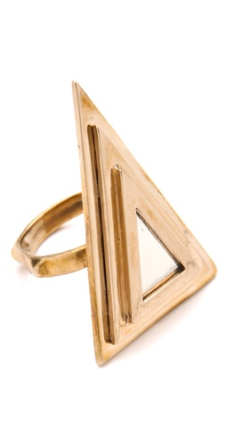 Pamela Love Two Tone Pyramid Ring