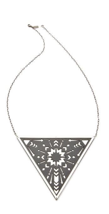 Pamela Love Zellij Triangle Pendant Necklace