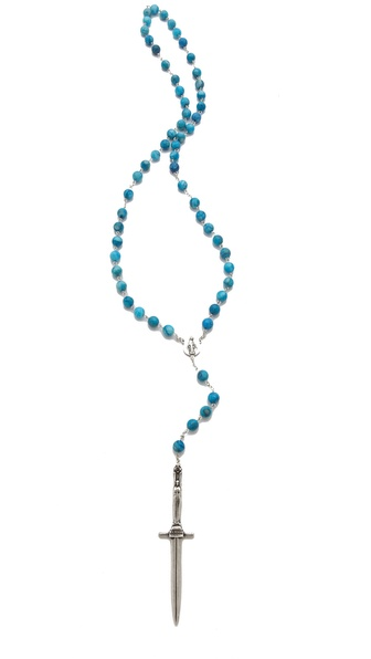 Pamela Love Turquoise Rosary Necklace