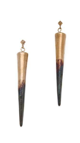 Pamela Love Long Spike Drop Earrings
