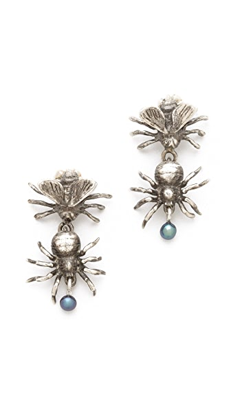 Pamela Love Fly Spider Earrings
