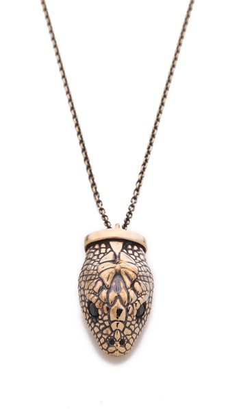 Pamela Love Large Serpent Pendant Necklace