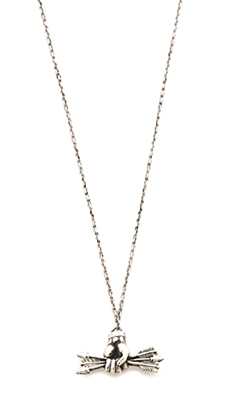 Pamela Love Small Arrows Pendant Necklace