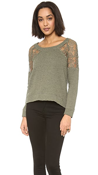 Pam & Gela Sweatshirt with Lace