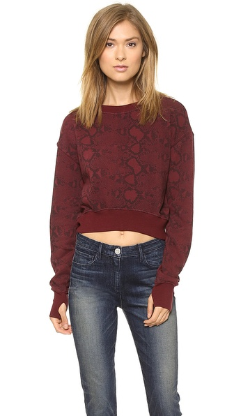 Pam & Gela Crop Long Sleeve Sweatshirt