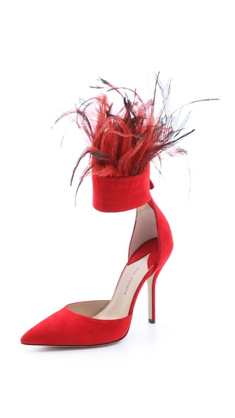 Paul Andrew Aquila Feather Cuff Heels