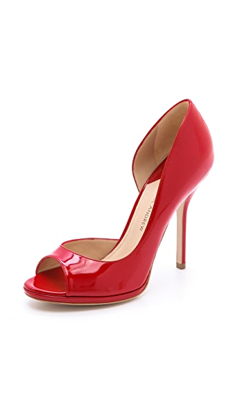 Paul Andrew Persia Peep Toe Pumps
