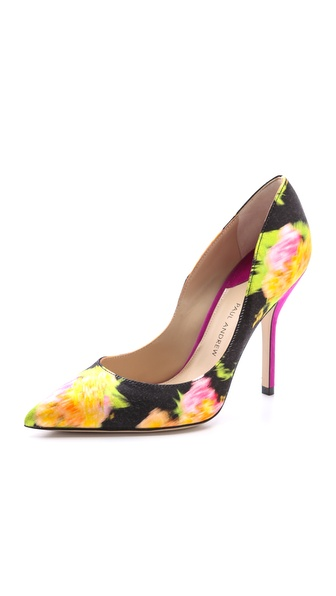 Paul Andrew Shakti Flower Print Pumps