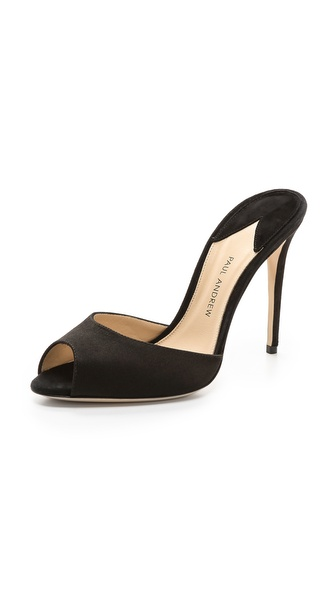 Paul Andrew Aristata Peep Toe Mules - Black at Shopbop / East Dane