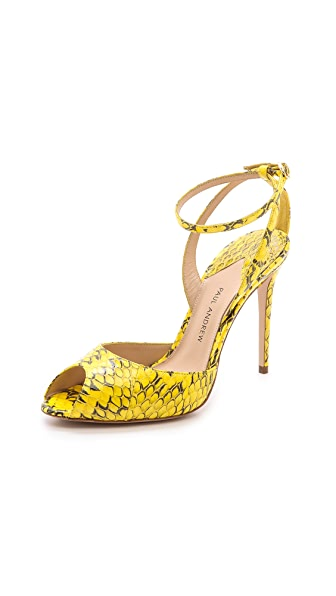 Paul Andrew Europeaus Snakeskin Sandals
