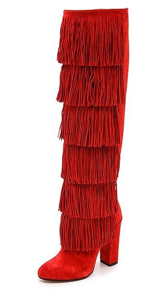 Paul Andrew Tara Tall Fringe Boots