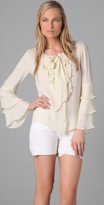 Parker Ruffle Long Sleeve Top
