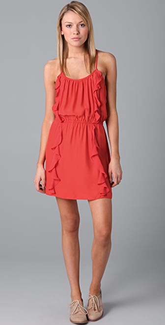 Parker Solid 2 Ruffle Dress