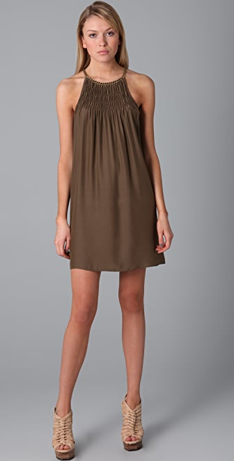 Parker Solid Chain Neck Dress