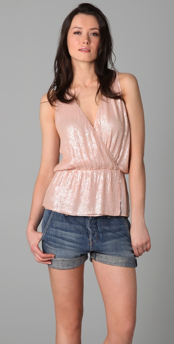 Parker Baby Sequin Wrap Top