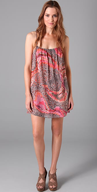 Parker Print Ruffle Crisscross Dress