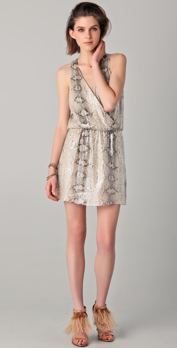 Parker Python Sequined Dress