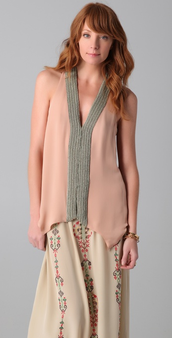 Parker Beaded Sleeveless Top