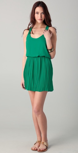 Parker Racer Pleat Dress