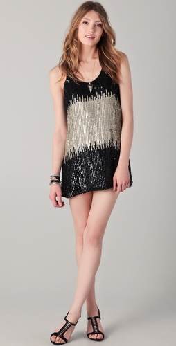 Parker Sequin Blocking Racer Dress
