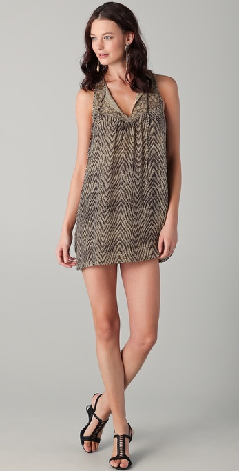 Parker Sequined Batik Tank Dress