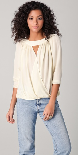 Parker Draped Wrap Blouse
