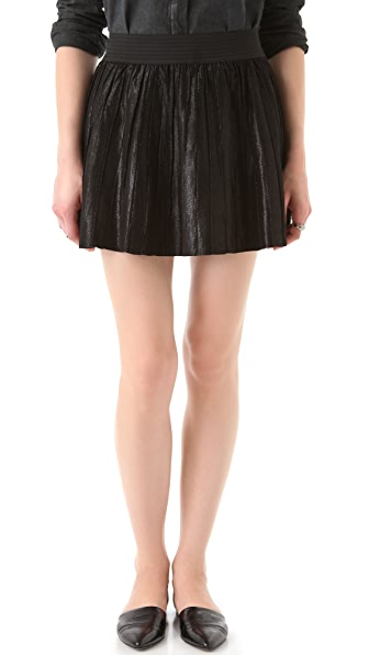 Parker Leather Pleated Skirt