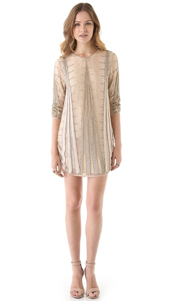 Parker Art Deco Beaded Dress