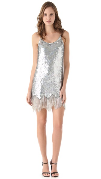 Parker Fringe Beaded Dress