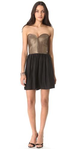 Parker Leather Corset Dress