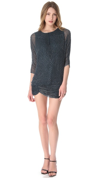 Parker Geometric Beaded Dress from shopbop.com