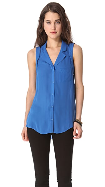 Parker Open Back Button Down Top