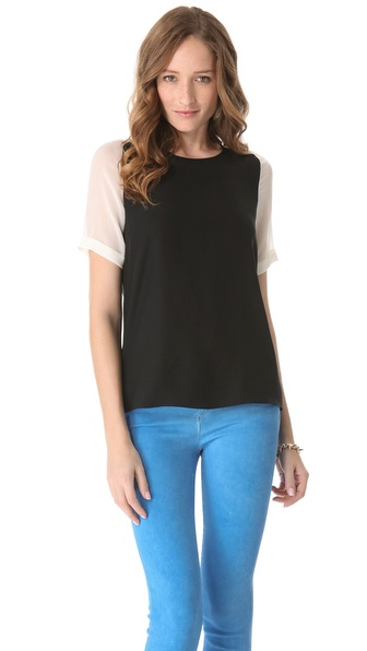 Parker Chiffon Combo Top