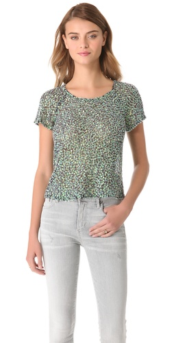 Parker Iridescent Sequin Top