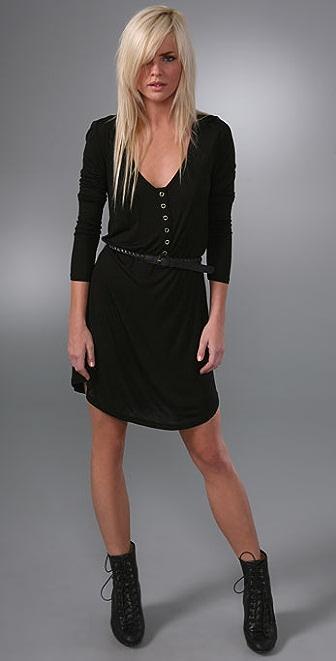 PJK Patterson J. Kincaid Long Sleeve LA Belted Zip Dress
