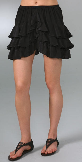 PJK Patterson J. Kincaid Jasmine Ruffle Miniskirt