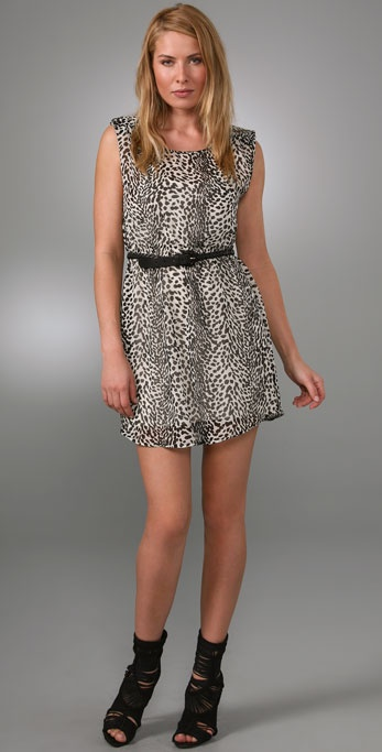 PJK Patterson J. Kincaid Elena Dress with Shoulder Pads