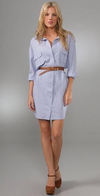 PJK Patterson J. Kincaid Blue Label Charlie Boyfriend Belted Dress
