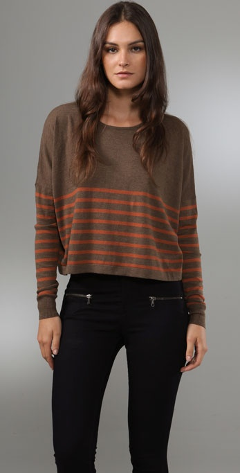PJK Patterson J. Kincaid Boxy Crew Neck Sweater