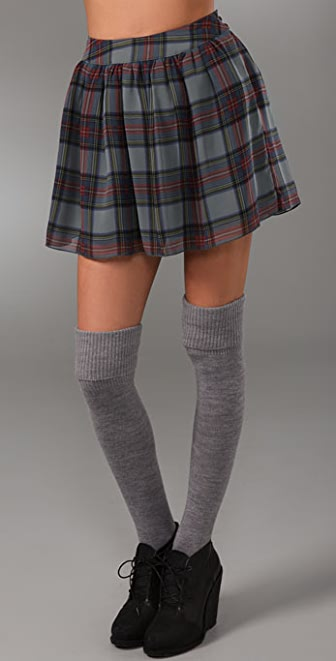 PJK Patterson J. Kincaid Matilda Plaid Skirt