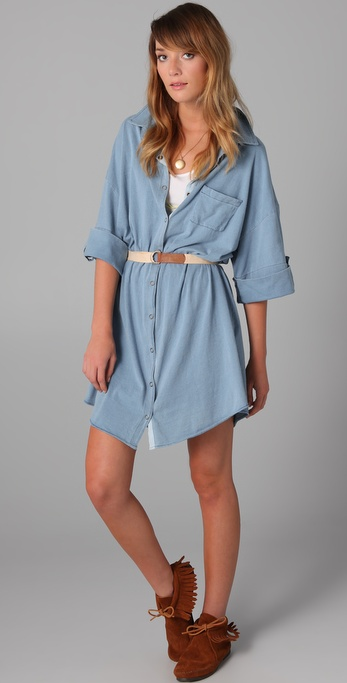 PJK Patterson J. Kincaid Crystal Jersey Tunic Dress