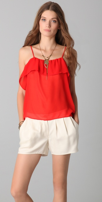 PJK Patterson J. Kincaid Welsh Ruffle Top