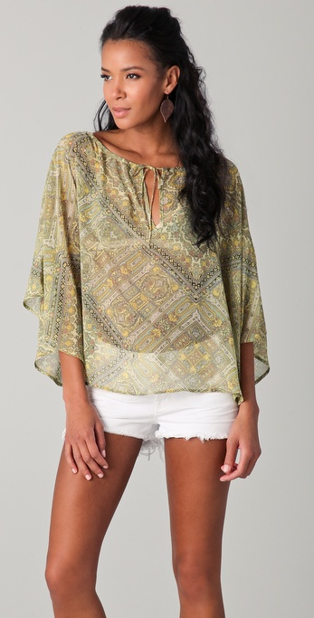 PJK Patterson J. Kincaid Twiggy Peasant Top