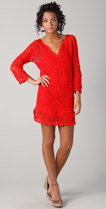 PJK Patterson J. Kincaid Dora Crochet Dress