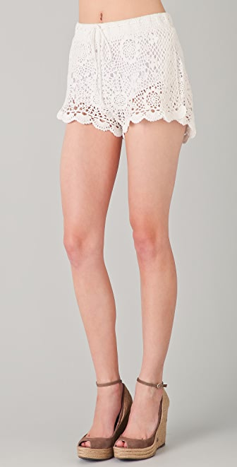 PJK Patterson J. Kincaid Welt Ribbon Crochet Short