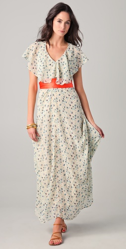 PJK Patterson J. Kincaid Mista Ruffle Maxi Dress